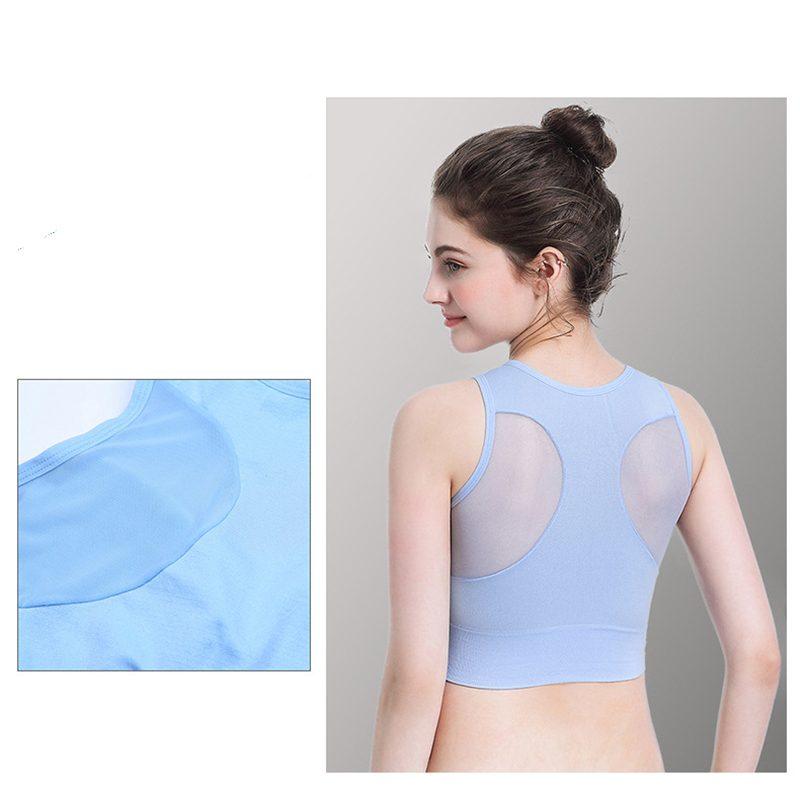 Áo bras crossfit màu xanh biển