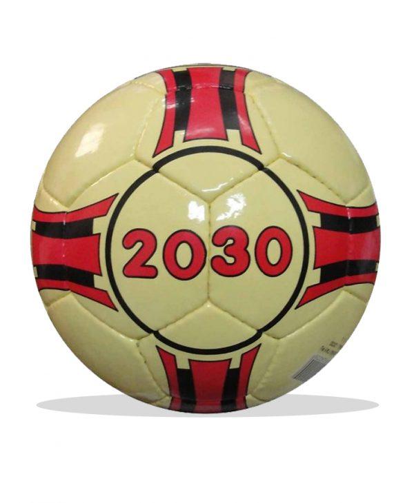 Bóng đá futsal 2030 màu trắng đỏ