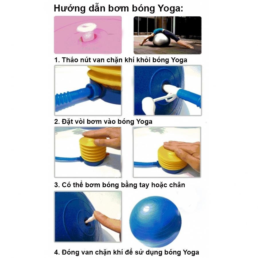 Hướng dẫn cách bơm bóng yoga