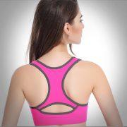 áo bra crop top thể thao hồng viền xám