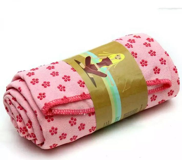 khăn trải thảm tập yoga hồng