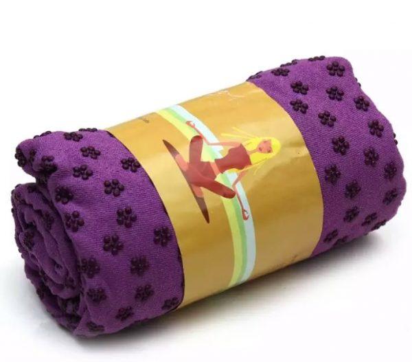 khăn trải thảm tập yoga rượu vang tím