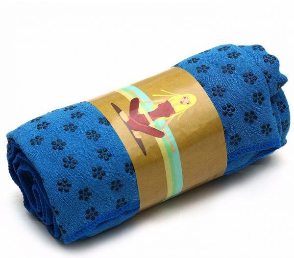 khăn trải thảm tập yoga xanh bích