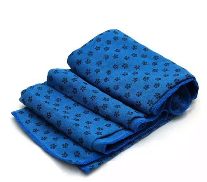 khăn trải thảm tập yoga xanh dương