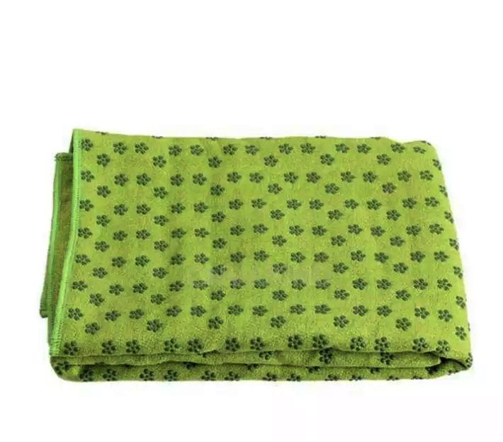 khăn trải thảm tập yoga xanh lá cây