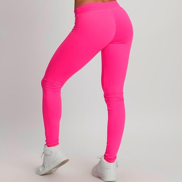 quần legging hồng lưng cao thể thao