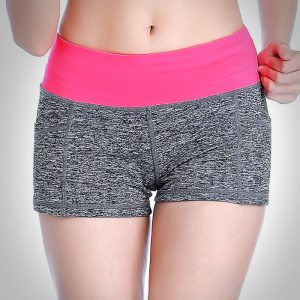 quần short thể thao nữ xám hồng 360s