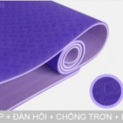 Thảm tập yoga TPE 6mm 2 lớp loại tốt