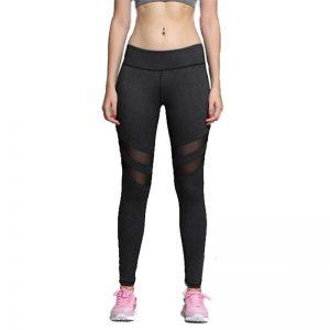 Quần legging tulle mesh màu đen