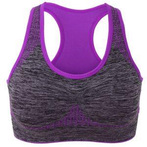 áo ngực thể thao bras tập gym yoga tím xám