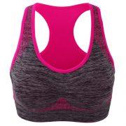 áo ngực thể thao bras tập gym yoga xám hồng