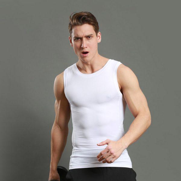áo thun thể thao ba lỗ y5 tập gym trắng