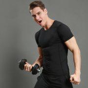 áo thun thể thao nam tập gym f5 đen