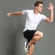 áo thun thể thao nam tập gym f5 trắng