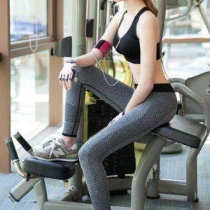 quần legging thể thao xám