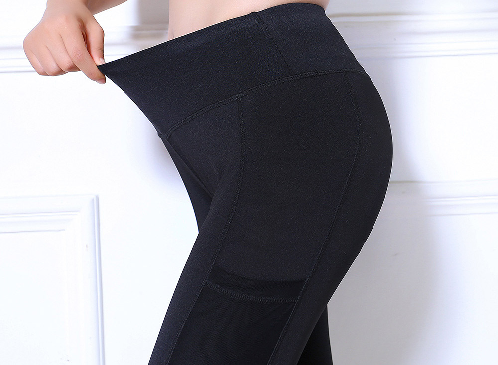 quần legging phối lưới thể thao đen