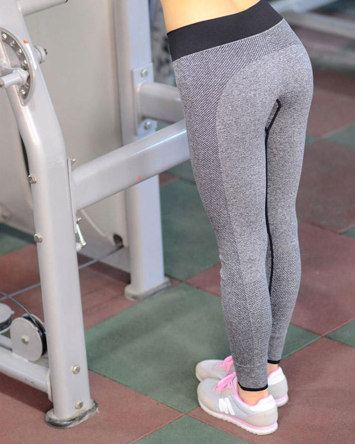 quần legging dệt 2 màu xám thể thao