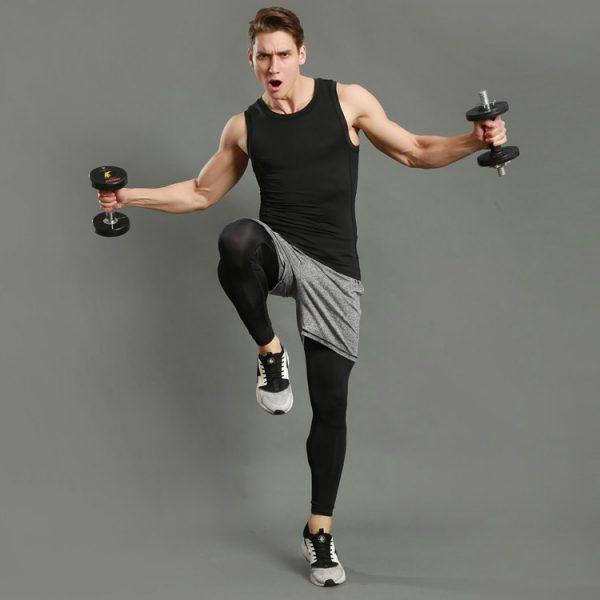 quần tập gym nam xám đẹp