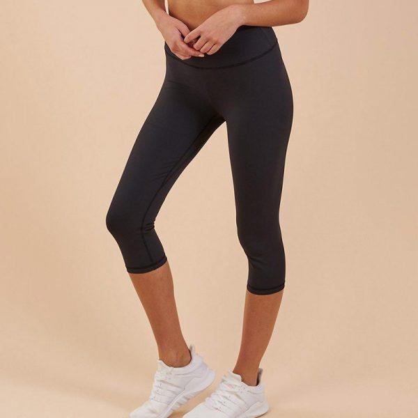 quần legging lửng vanish crop đen