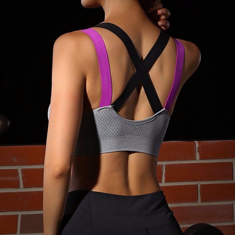 Áo ngực thể thao bra 360s Motion màu xám