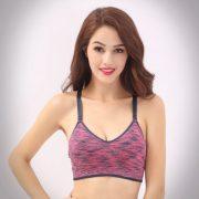 áo ngực thể thao bra 360s Reflaxed tím hồng