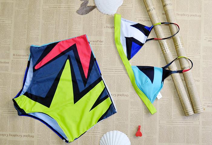 áo tắm bikini - Đồ bơi Nữ 360s Âu Mỹ hoạ tiết mùa hè