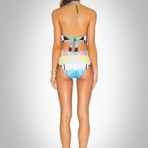 áo tắm nữ liền thân hoạ tiết hình học 360s