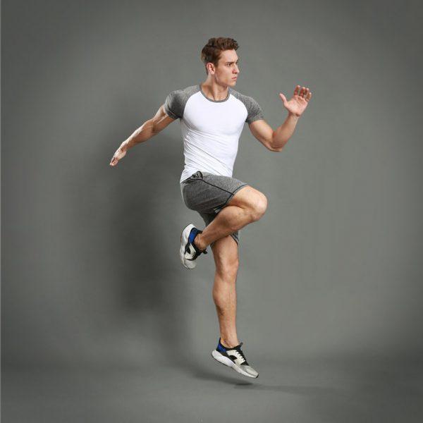 áo thun nam thể thao 360s Breathable trắng xám