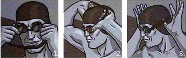 cách đeo kính bơi đơn giản