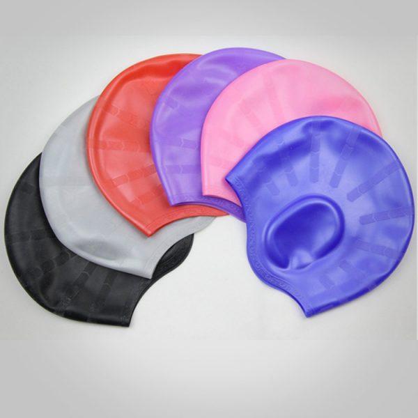 nón mũ bơi nam nữ Silicon không trơn không thấm nước