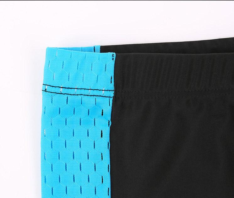 quần shorts bơi nam đen phối xanh 360s