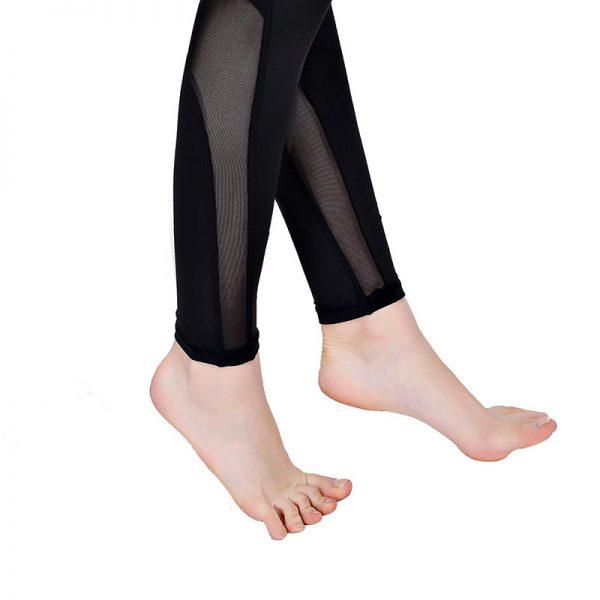 quần legging nữ thể thao 360s shaping lưới đen