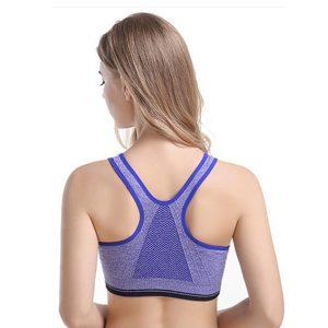 Áo bra zipper màu xanh dương