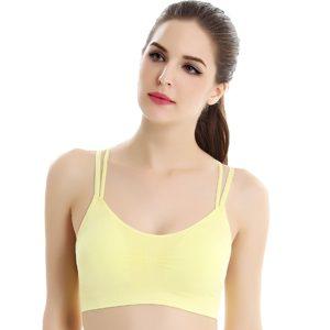 Bras elastic màu vàng