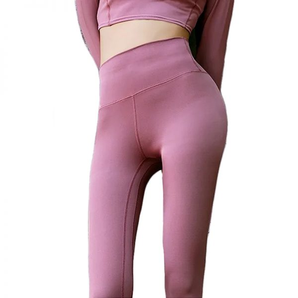 Quần legging lux màu hồng