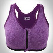 áo ngực thể thao 360s 3d zipper tím