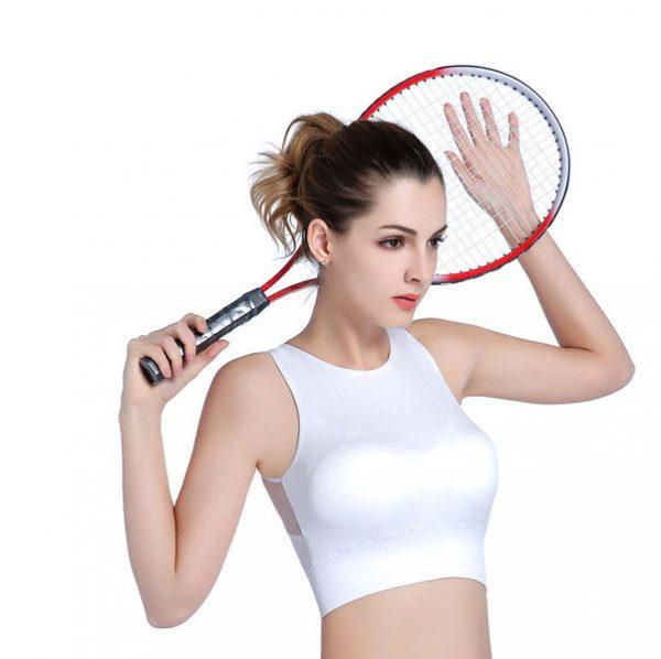 áo bra 360s crossfit trắng lưới