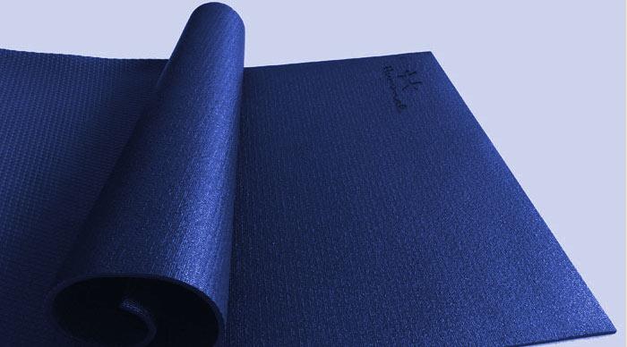 thảm yoga hummal chính hãng màu xanh navy cao su