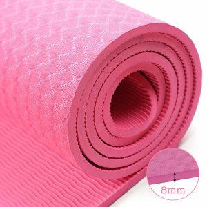 thảm tập yoga TPE 8mm 360s ultra màu hồng