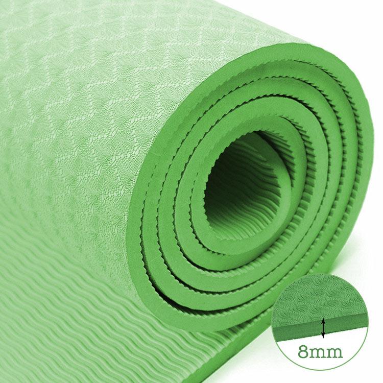 thảm tập yoga TPE 8mm 360s ultra màu xanh lá