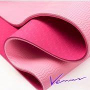 thảm tập yoga tpe 2 lớp 6mm 360s venus hồng