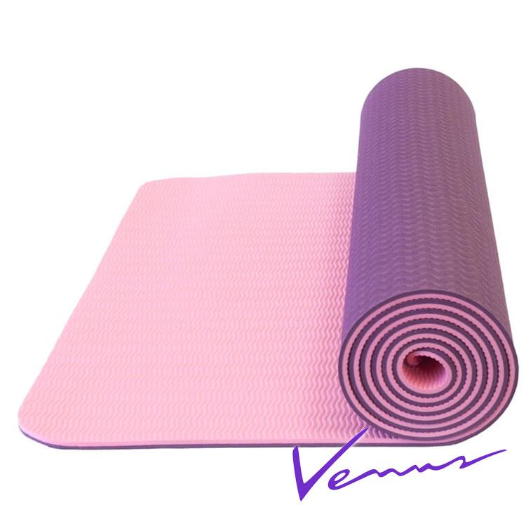 thảm tập yoga tpe 2 lớp 6mm 360s venus tím