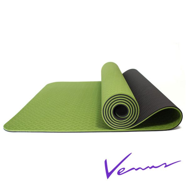 thảm tập yoga tpe 2 lớp 6mm 360s venus xanh lá