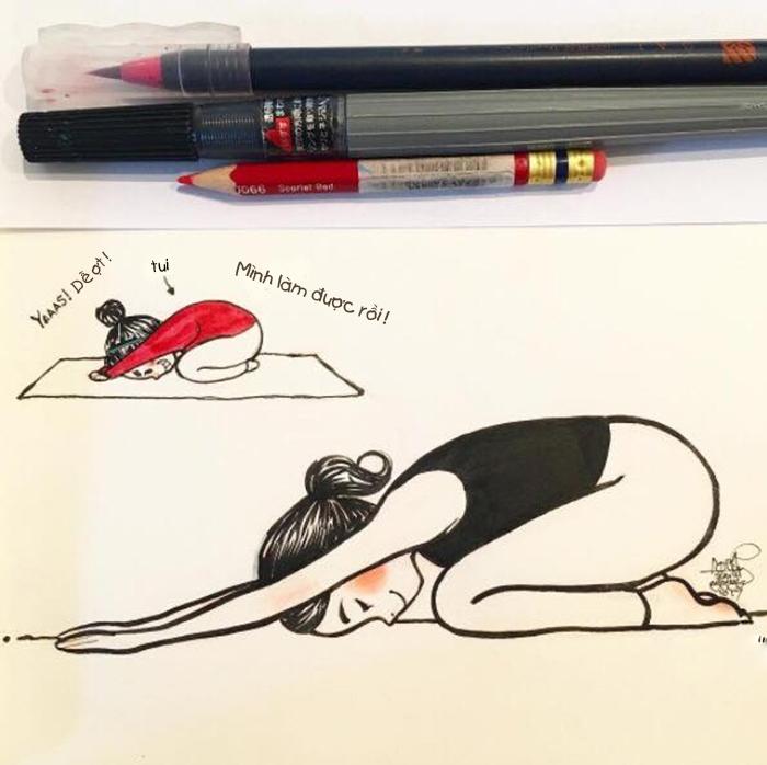Yoga con nhà người ta