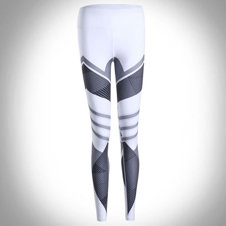 quần legging Leisure trắng phối xám