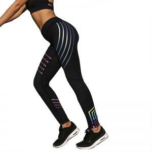 Quần legging rainbow màu đen