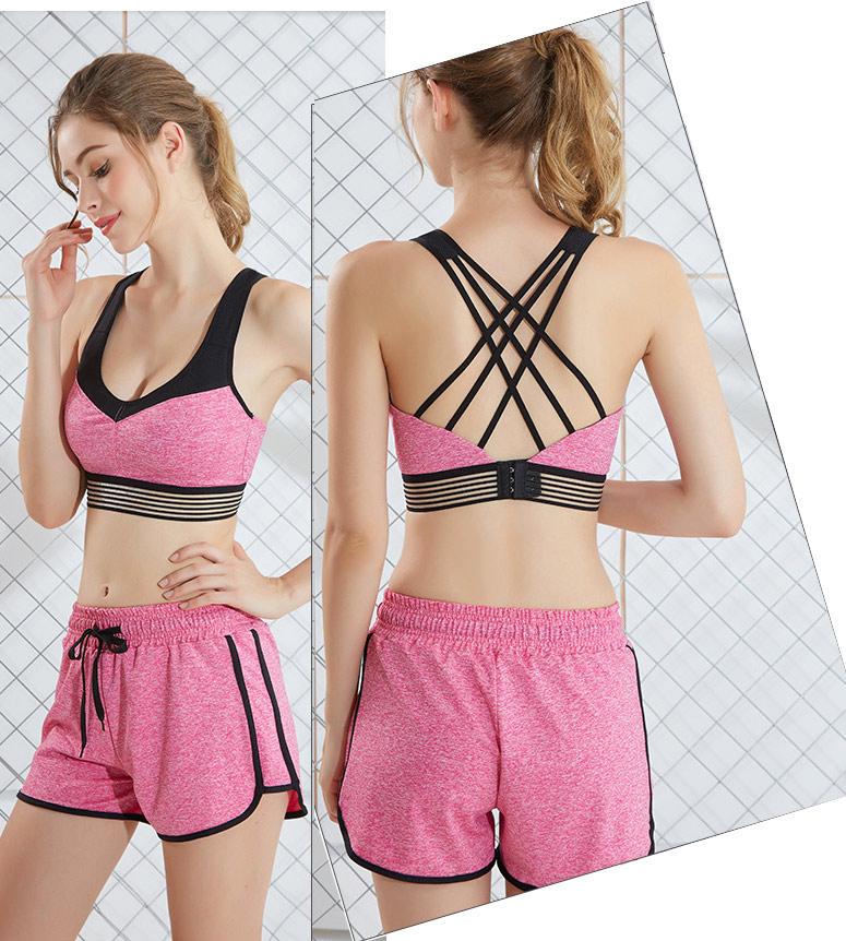 áo ngực thể thao super curl hồng
