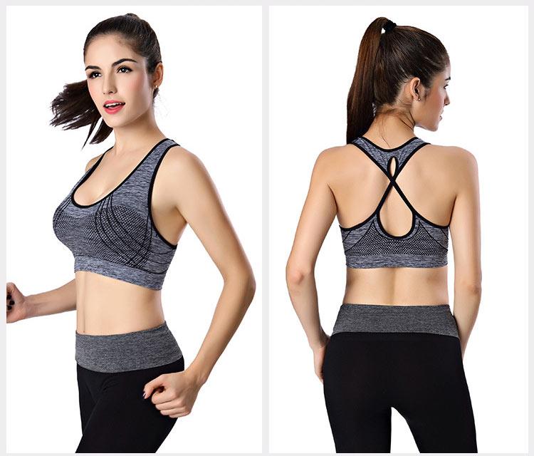 áo bra thể thao 360s standing đen xám