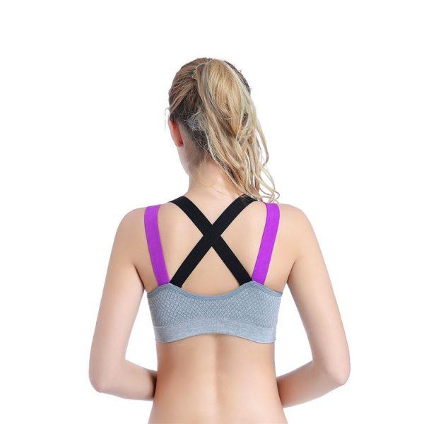 áo ngực thể thao motion xám