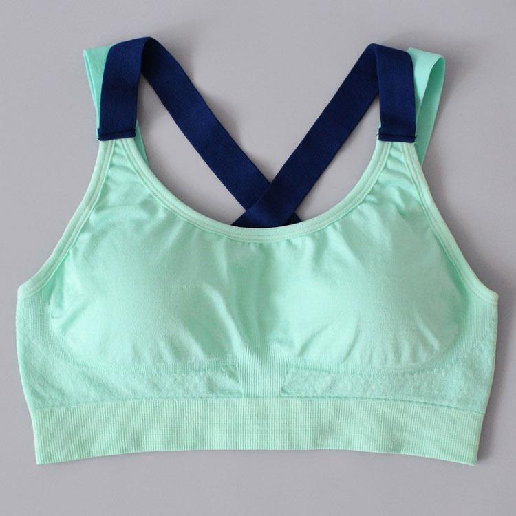 áo ngực thể thao motion xanh
